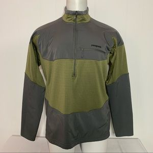 PATAGONIA R1 1/4 Zip midlayer Pullover SAGE GRAY